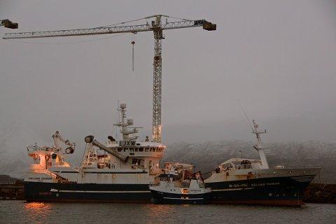 Nybygget Skarsfjord sammen med Selvåg senior, som Slipen har vedlikeholdt for Meløyfjord fiskeriselskap.
