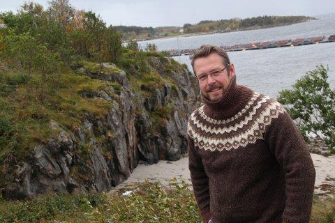 Bjørn Inge Rikhardsen står bak Skudneset maritime næringspark på Dønna.