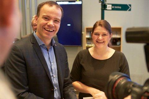 Fylkesrådslederne Tomas Norvoll (Nordland) og Cecilie Myrseth (Troms).