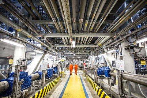 ØKER PRODUKSJONEN: Et prosjekt på Skarv-feltet har bidratt til å bremse det naturlige fallet i produksjonen, slik at fjerde kvartal ga mer olje og gass enn tredje kvartal.