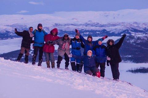 Alstahaug voksenopplæring på tur i Hattfjelldal.