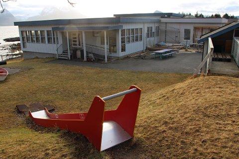 Barnehagen på Kvarøy ligger i samme bygg som skolen.