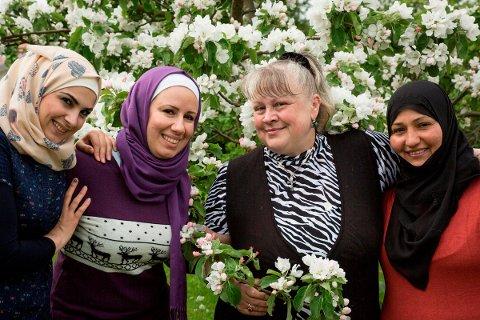 Fra venstre Hiba Hamdi, Zeina Haydar, Natalia Ilona Nordsen og Ola Kawji.