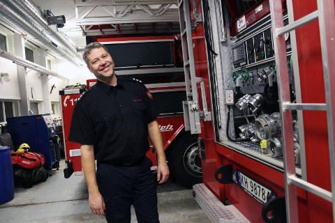 Tommy Johnsen er avdelingsleder for beredskap ved Mosjøen brannstasjon.