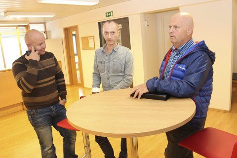 Forbannet: Roy Brubakk(t.h.) reagerer. Her med Ole A. Myrholt og Arnt Erik Drevland.