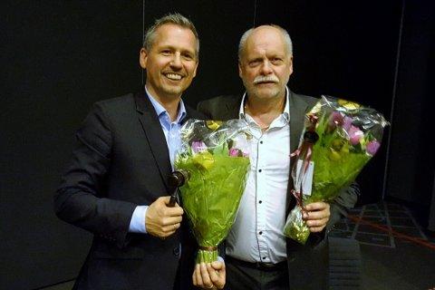 Nyvalgt og avtroppende styreleder i KS Nordland. Bård Anders Langø og Jann-Arne Løvdahl.