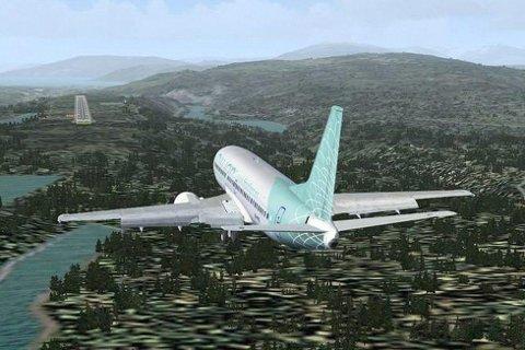 HOGST: Der er mye skog som må fjernes  før det første  flyet kan lande på Hauan.