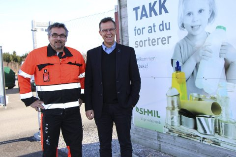 Jubilerer: Daglig leder på SHMIL i Brønnøysund Øyvind Andreassen og administrerende direktør Håkon Johansen.