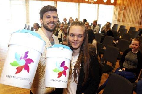 Godt resultat: Geir Ringvold og Sofie Drag i front for aksjonen i Mosjøen.