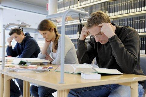 Mer og mindre: De får mer i studiestøtte, men mindre i reisestøtte og økt studielånsrente. Foto: Frank May / NTB scanpix