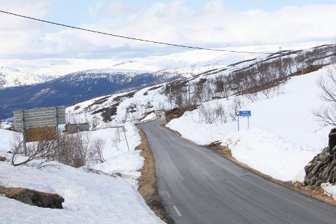 Bildet er tatt fra kafeen på Korgfjellet, i retning Vefsn. Foto: Jon Steinar Linga