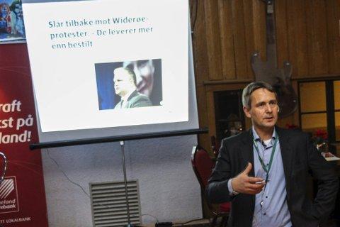 Trenger allierte: Stein Nilsen, administrerende direktør Widerøe, sier selskapet trenger allierte i distriktene for å kunne skapet et så godt tilbud som mulig. Bilder: Rune Pedersen
