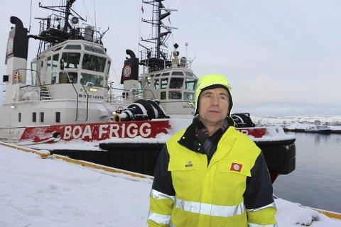 UTRYGT: Tillitsvalgt i Boa-offshore, Kristian Grimsø er en av mange sjøfolk som kan bli rammet av oljekrisa. Foto: Jarl G. Sandholm