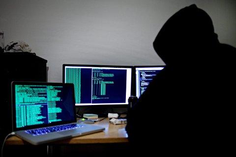 Oslo  20120125. Illustrasjonsfoto. Hacking, hackere og datakriminalitet blir av mange oppfattet som et alvorlig samfunnsproblem. Foto: Thomas Winje Øijord / Scanpix