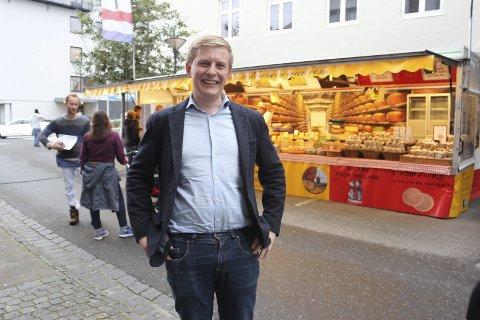 OPTIMIST: Sjømatgründer Fredrik Nordøy fra Sandnessjøen har tro på at det er mye upløyd mark innenfor norsk sjømatnæring. Foto: Jarl G. Sandholm