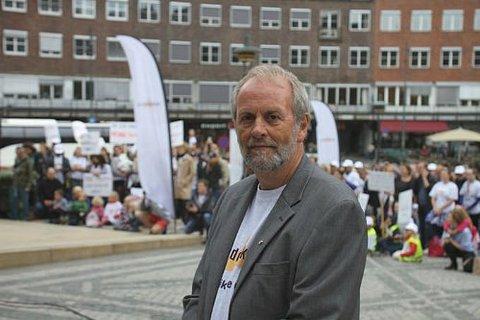 Streikearrangement for Oslo Rådhus