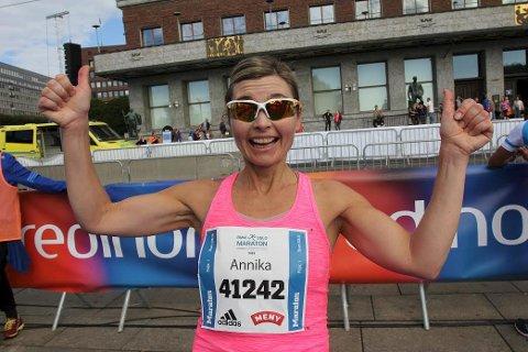 NM-SØLV: Annika Lorentsen imponerte da hun løp inn til NM-sølv i det som var hennes aller første maratonstart.