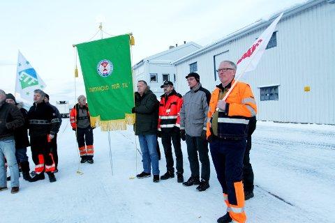 Tre år i streik: I desember 2013 ble de ansatte på havna i Mosjøen tatt ut i sympatistreik. Nå er framtiden usikker etter at streiken ble vedtatt avsluttet – tre år etter. Foto: Torild Wika