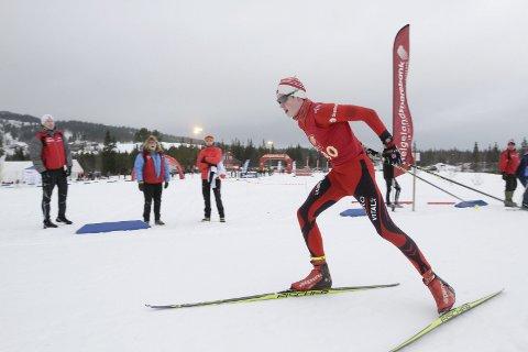 KM på ski ble arrangert på Sjåmoen i slutten av januar, og arrangør var Mosjøen IL Ski. Her er Nikolai Aslaksen, Bossmo i aksjon. Foto: Per VIkan