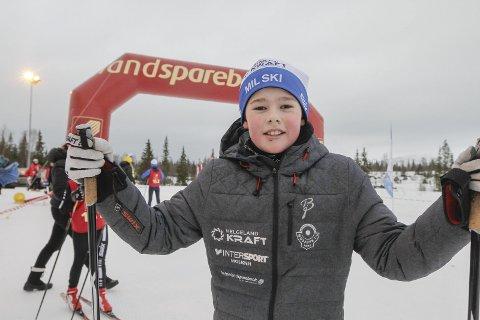 KM på ski Sjåmoen fristil. Arrangør Mosjøen IL Ski. I rekruttklassen 12 år vant Viljar Henriksbø Gjerstad, Mosjøen