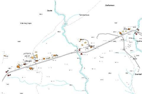 Dette er strekningen Vefsn kommune nå ønsker å redusere hastigheten langs.