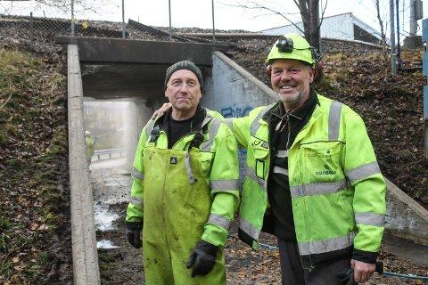 Vasking av bru Bane Nor Mosjøen Olderskog Helge Jørgensen og Karl Øverlien