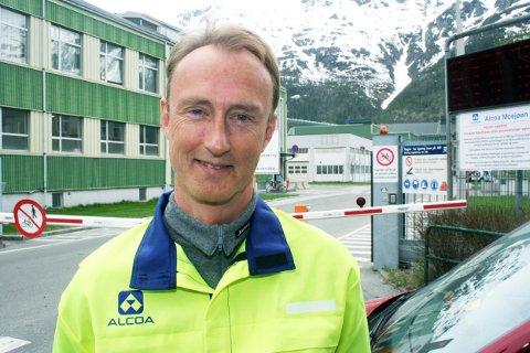 Kai Rune Heggland, sjef  Alcoa Norway