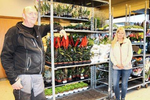 John Arne Dalheim og Inger Lise Steffenrem på Primaflor i Mosjøen.