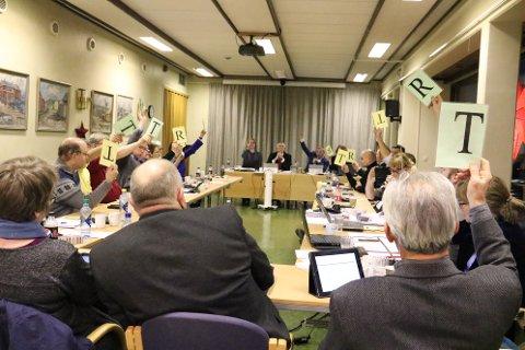 17-10: Høyres budsjettforslag fikk flertall med 17 mot 10 stemmer.