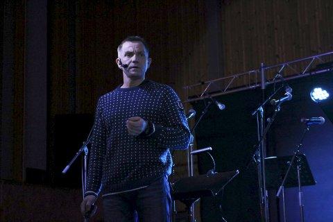 Oskar Fagervik, her fotografert i desember 2017, i forbindelse med et foredrag om Majavasstragedien.