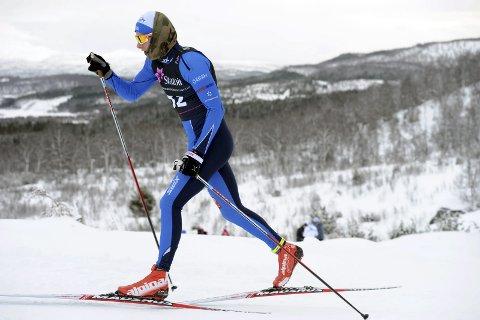Langrenn NM junior i Harstad. Aleksander Slydahl ble nummer 53 i klasse 18/19 år fristil. Bildet er fra lørdagens klassiske renn. Foto: Arne Brunes