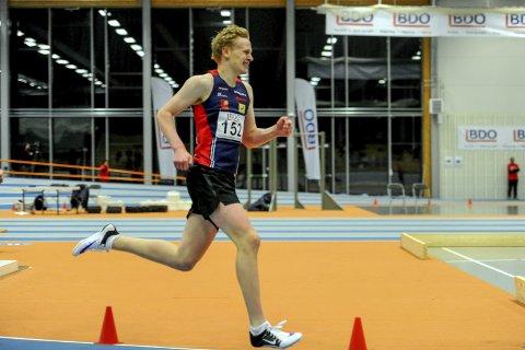 Ungdomsmesterskapet i fjor vinter gikk i  Steinkjer. Her er Ståle Jarmund på 400m.