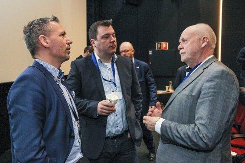 SAMARBEIDER: Disse tre, Bård Anders Langø (t.v.) , Stig Tore Skogsholm og Jann-Arne Løvdahl samarbeider allerede godt. Nå tas det til orde for at hele Helgeland skal samarbeide – igjen. Bilder: Rune Pedersen