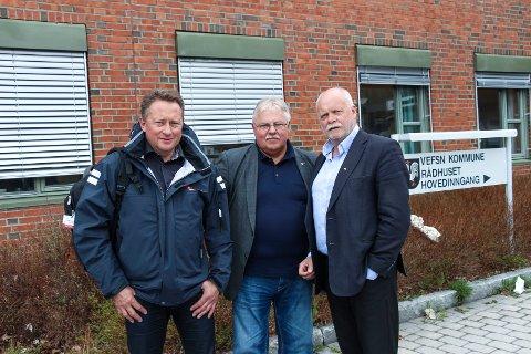 VISITT: Tommy Rannov Nystad og  Tor Arne Strøm fra Fellesforbundet inviterte seg selv til et møte med Jann Arne Løvdahl