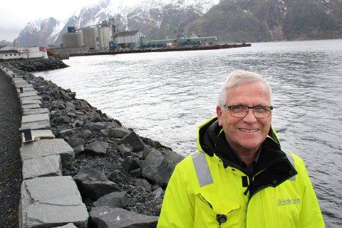 HAVNA: Fungerende havnesjef Odd Luktvassli sier at antall tonn gods i havna kan nesten bli doblet.
