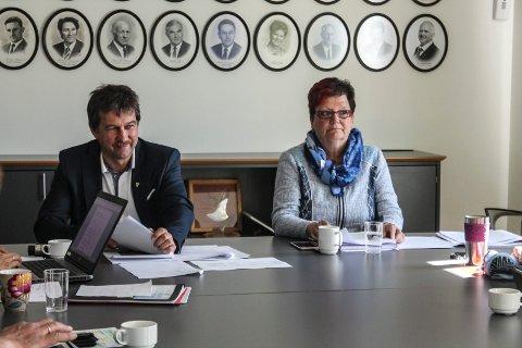 ordfører Ivan Haugland rådmann Britt Jonassen Leirfjord formannskap