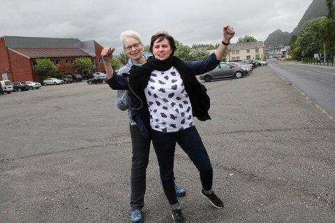 Irene Bergsnev og Marit Thrana. Kulturskole Vefsn samlokalisering, Mosjøen næringsforening tomt parkering kulturhus