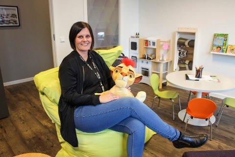Økning: Christina Sørensen forteller at hun hadde 80 avhør med barn i hele fjor, mens hun nå allerede har hatt 75.