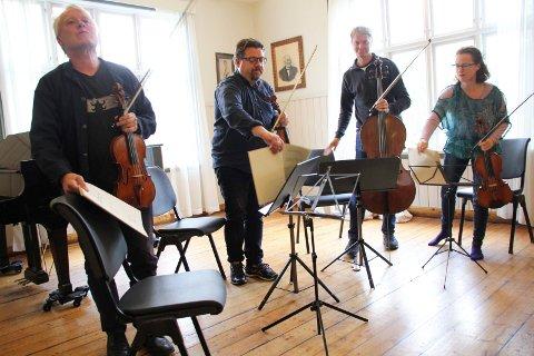 """BEETHOVEN: Engegårdkvartetten bød på strykerkvartetten """"Cavatina"""" av Beethoven. Med: Arvid Engegård, Alex Robson, Juliet Jopling og Jan Clemens Carlsen."""