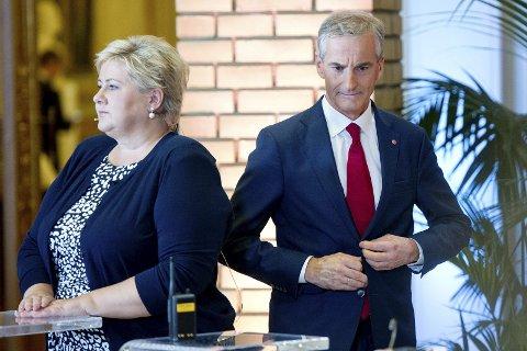ERNA ELLER JONAS? En av dem blir statsminister etter valget.
