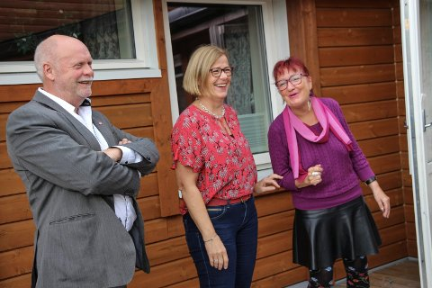 Godt humør: Jann-Arne Løvdahl, Rita Lekang og Ragnild Forså er i godt humør til tross for at alt ikke akkurat går Aps vei.