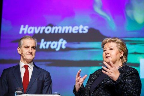 SOLBERG ELLER GAHR STØRE: Statsminister Erna Solberg og leder i Arbeiderpartiet Jonas Gahr Støre er nok spente på hvem som kan kalle seg statsminister når valgresultatet blir klart.