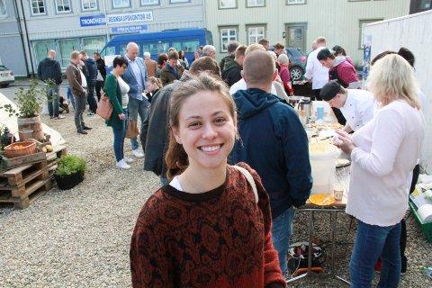 SVEITS:Gjest Camilla von Burgsdorff under lunsjen i Arktisk Mat i Vikgården lørdag.