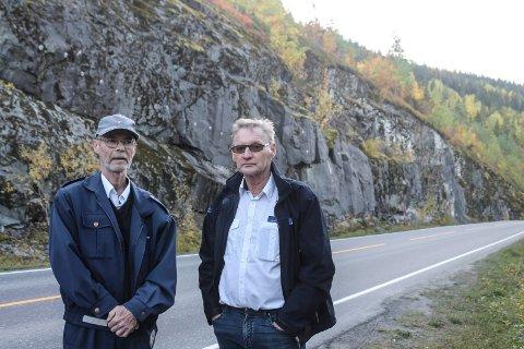 Rasfarlig vei Hjartåstunellen - Fusta fv 78 Otto Stordal og Svein Andersen