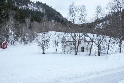 30 MÅL: Eiendommen Hamarheim i Mosjøen ligger like sør for boligområdet Skjervengan. Her vil Torbjørn Jacobsen sette opp rekkehus og muliggens også boligblokker. I første omgang blir det satt opp rekkehus på området bak og til venstre for det gamle huset på tomta.
