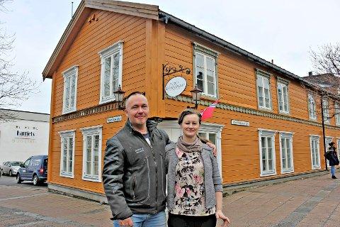 Frode og Lillian Normann drev Scandinavie kafe.