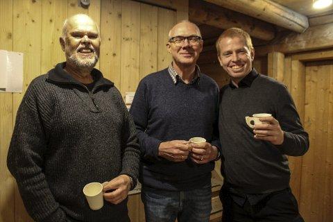 Engasjert: Øyvind Bergh, Rudi Jarholm Spaans og Magnar Kro Baisgård utgjør styret i Vefsn KrF. Nå stiller de til henholdsvis 8., 9. og 1. plass til kommunevalget.