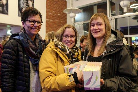 Fifty shades freed festpremiere Mosjøen kino  Tove Haugen, Marita Pedersen og Bente Kjønnås
