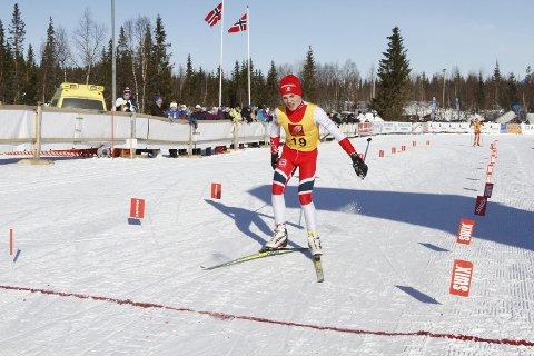 Første dag i NNM på Sjåmoen fredag. Fristil korte distanser. Trygve Mathias Hines Herringen IL ble nummer 11