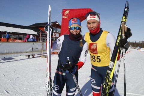 Første dag i NNM på Sjåmoen fredag. Fristil korte distanser. Silje Theodorsen Kvaløysletta Skilag vant seniorklassen sju sekunder foran  Anna Svendsen Tromsø SK Langrenn/ Team Veidekke